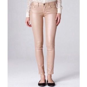 Lucky Brand Sofia Skinny Ankle Jeans Rose Gold